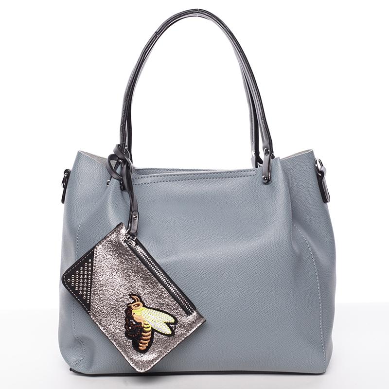 Módní měkká dámská kabelka modrá - Tomassini Kassidy