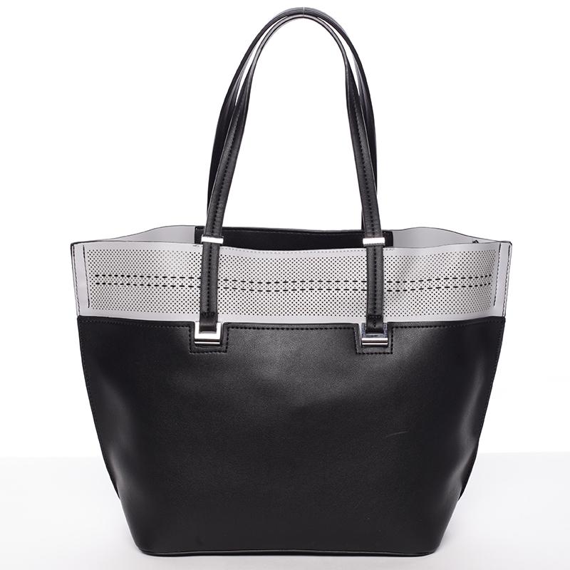 Trendy měkká dámská kabelka černá - Tommasini Millie