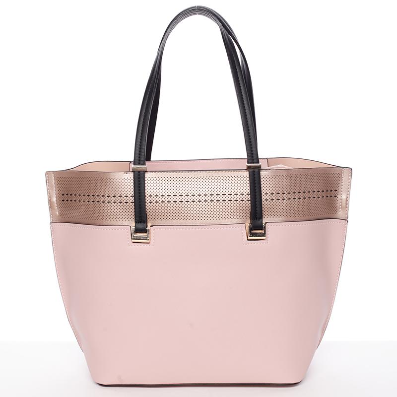 Trendy měkká dámská kabelka růžová - Tomassini Millie