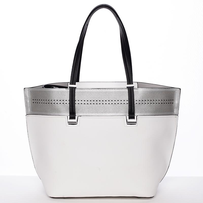 Trendy měkká dámská kabelka bílá - Tomassini Millie