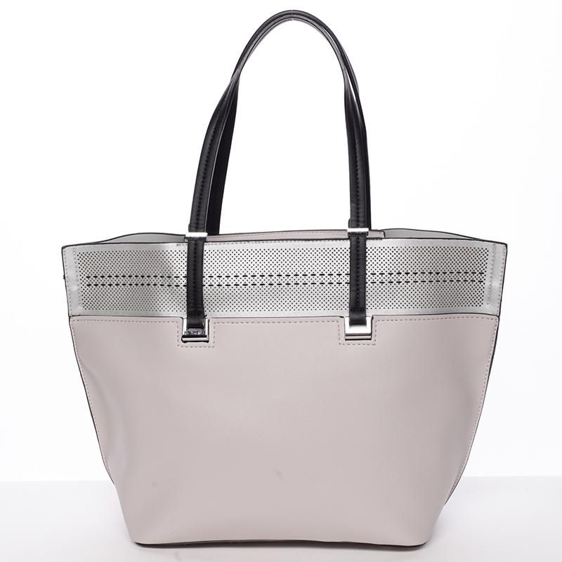 Trendy měkká dámská kabelka šedá - Tomassini Millie