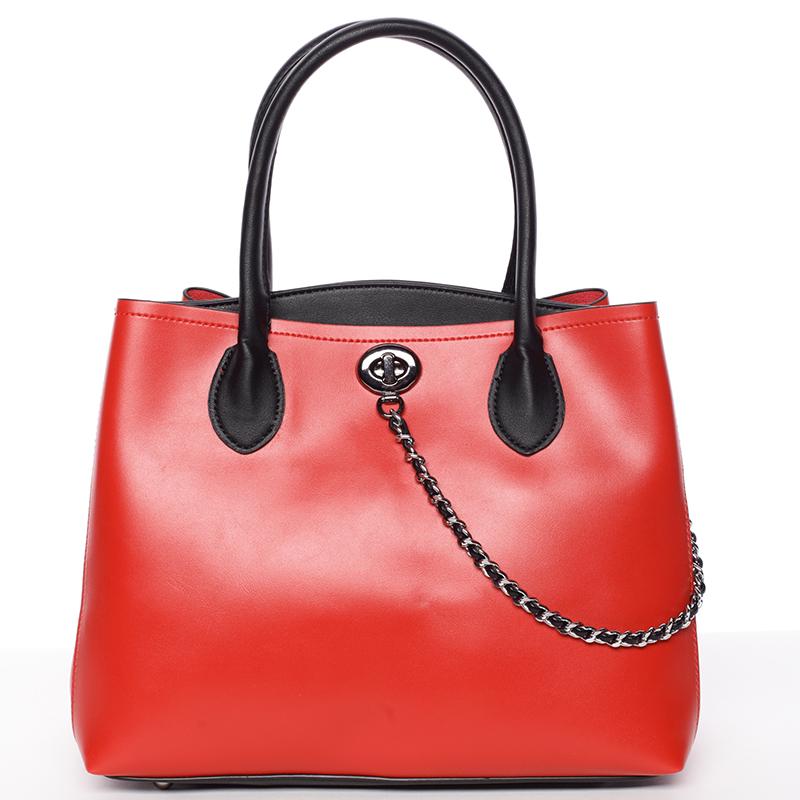 Elegantní dámská kabelka do ruky červená - Tomassini Abby