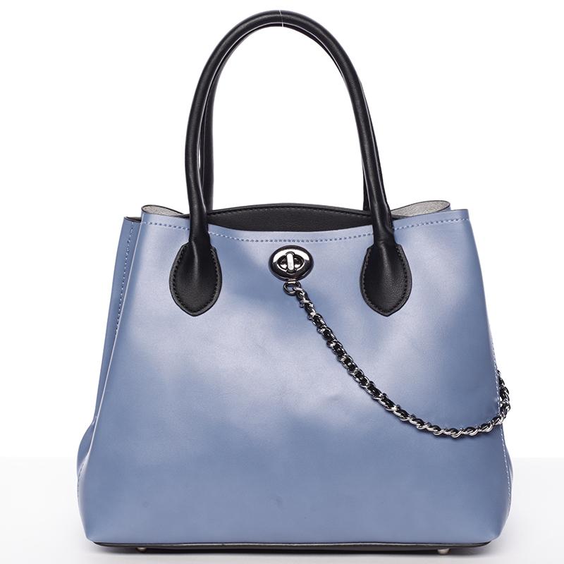 Elegantní dámská kabelka do ruky modrá - Tomassini Abby