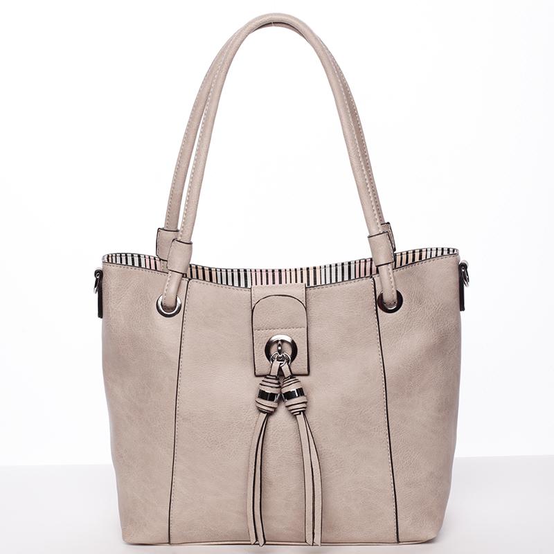 Módní dámská kabelka přes rameno písková - MARIA C Deborah