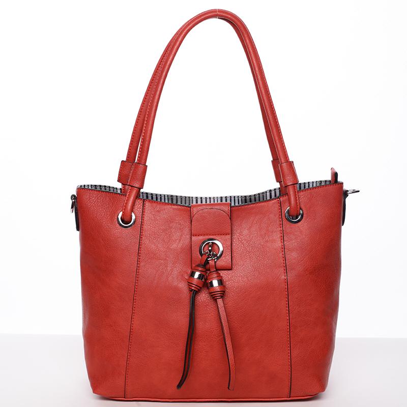 Módní dámská kabelka přes rameno červená - MARIA C Deborah