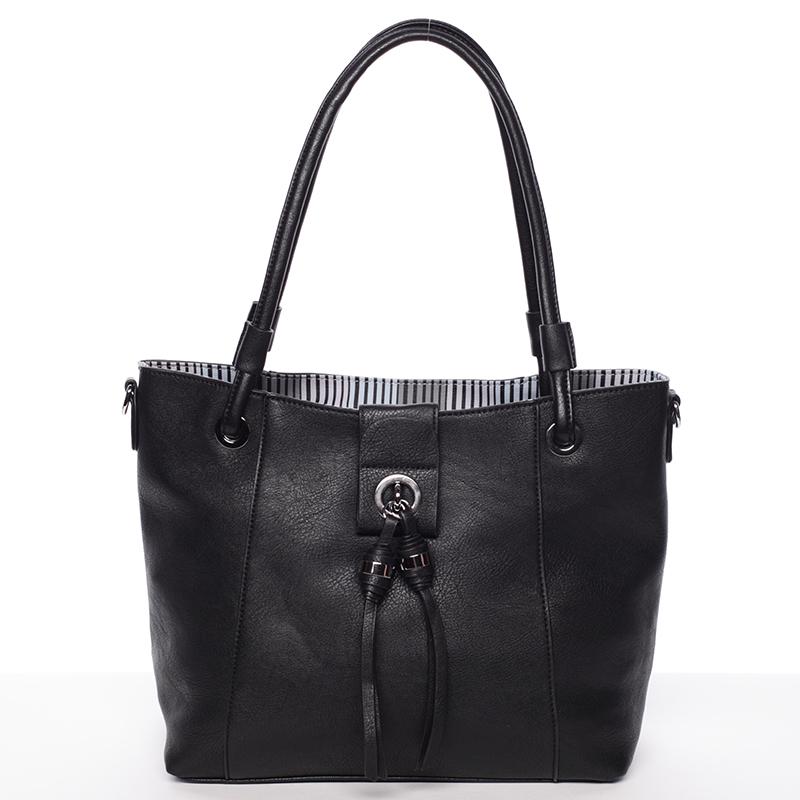 Módní dámská kabelka přes rameno černá - MARIA C Deborah