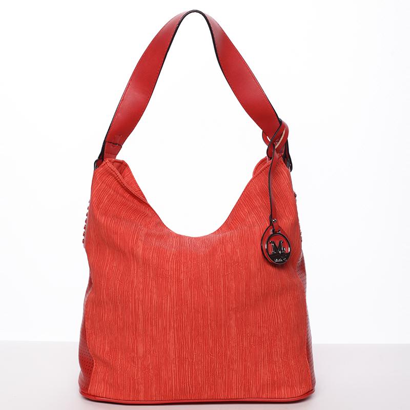 Moderní dámská kabelka přes rameno červená - MARIA C Paisley