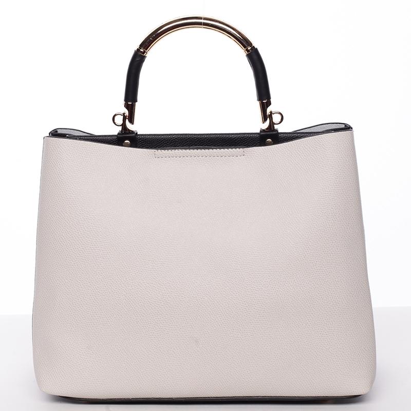 Exkluzivní měkká dámská kabelka do ruky béžová - Tomassini Kyndall