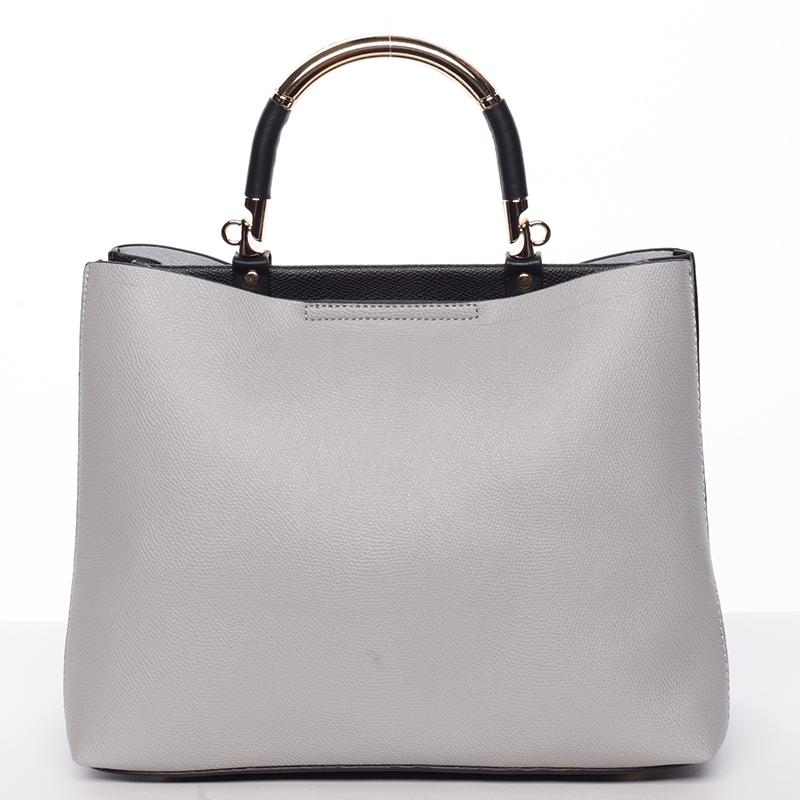Exkluzivní měkká dámská kabelka do ruky šedá - Tomassini Kyndall