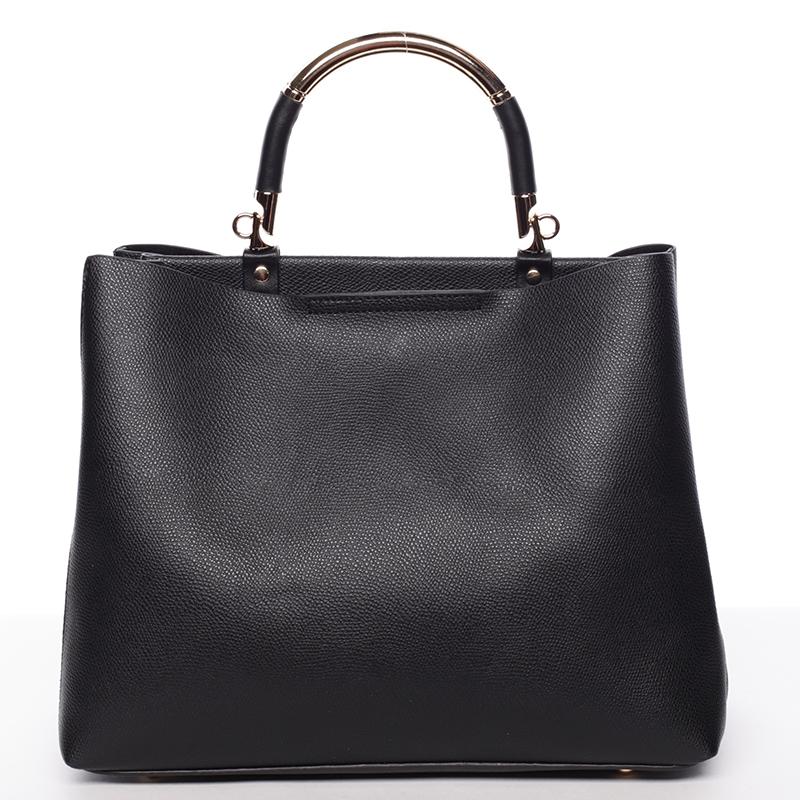 Exkluzivní měkká dámská kabelka do ruky černá - Tommasini Kyndall