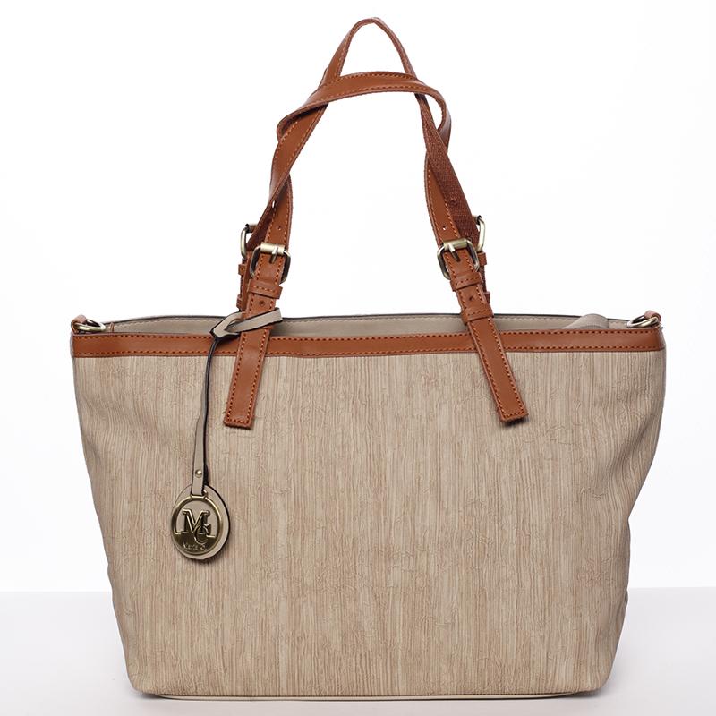 Módní dámská kabelka přes rameno taupe - MARIA C Itzel