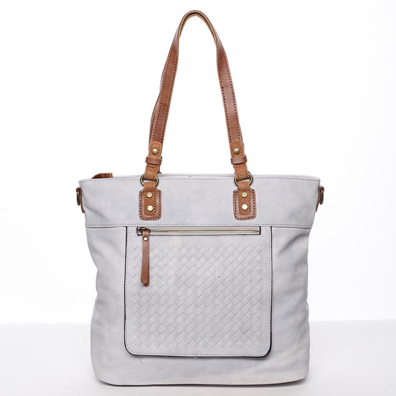 Nadčasová dámská kabelka přes rameno šedá - MARIA C Gwendolyn