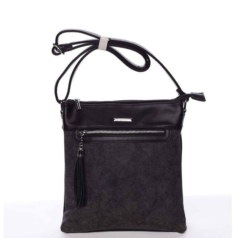 Moderní crossbody kabelka černá - Silvia Rosa Medusa