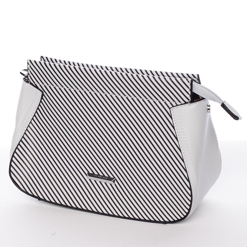 Malá originální crossbody kabelka šedá - Silvia Rosa Media