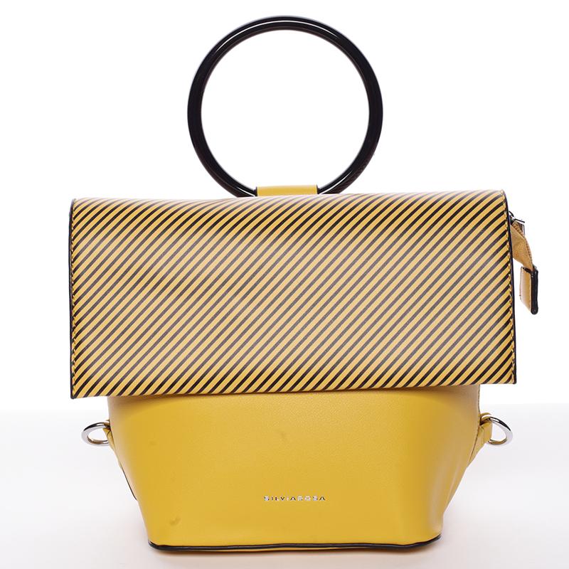 Originální a unikátní žlutá kabelka/ batůžek - Silvia Rosa Marmara