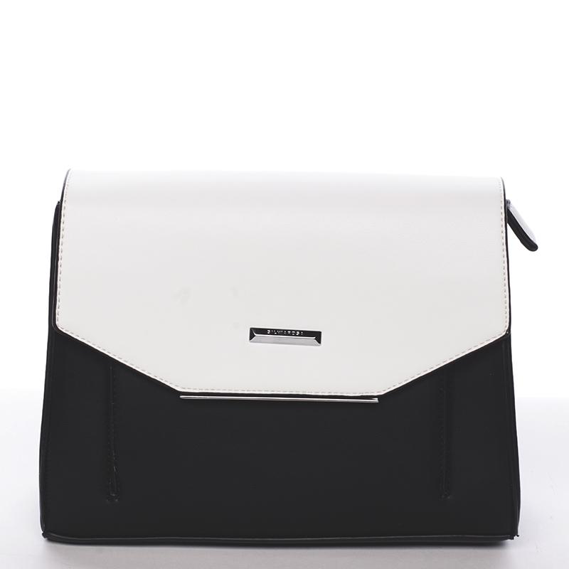 Svěží elegantní crossbody kabelka černá - Silvia Rosa Fianchi