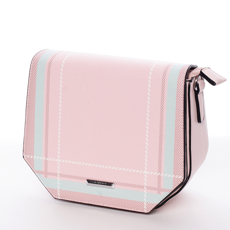 Trendy růžová crossbody kabelka - Silvia Rosa Medea