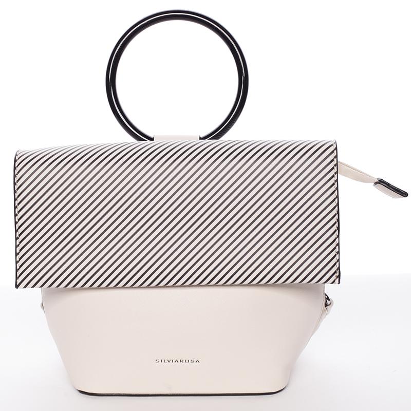 Originální a unikátní béžová kabelka/ batůžek - Silvia Rosa Marmara