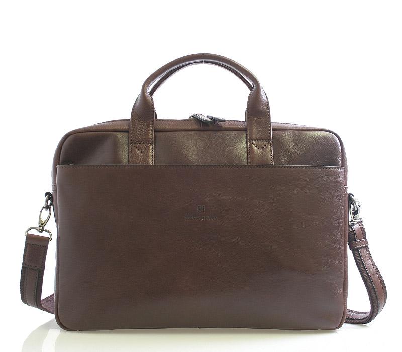 Hnědá kožená taška Hexagona 29478