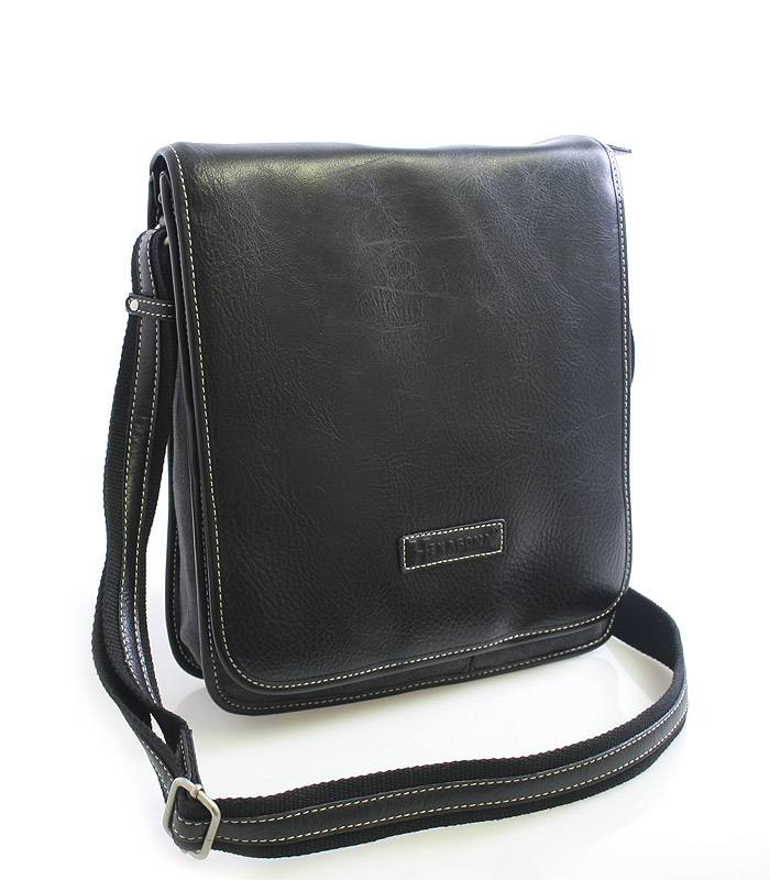 Černo-šedá taška přes rameno Hexagona 409110