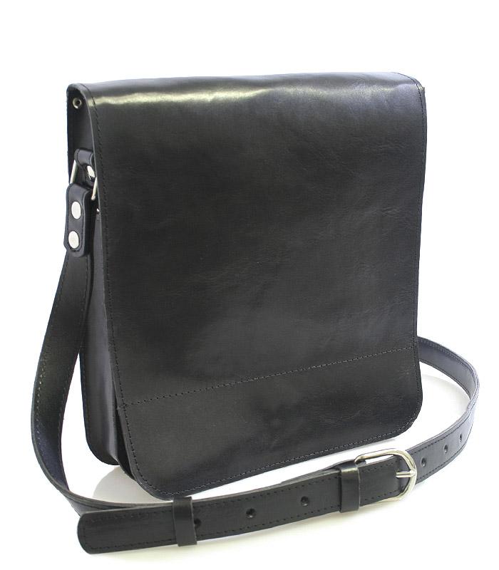 Černá luxusní kožená taška přes rameno Kabea Luxor