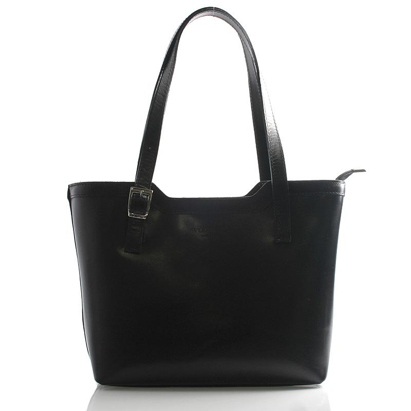 Černá elegantní kožená kabelka ItalY Melisa