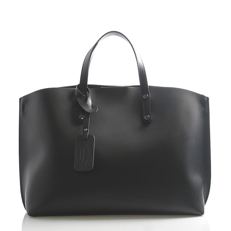 Černá kožená kabelka do ruky ItalY Jordana