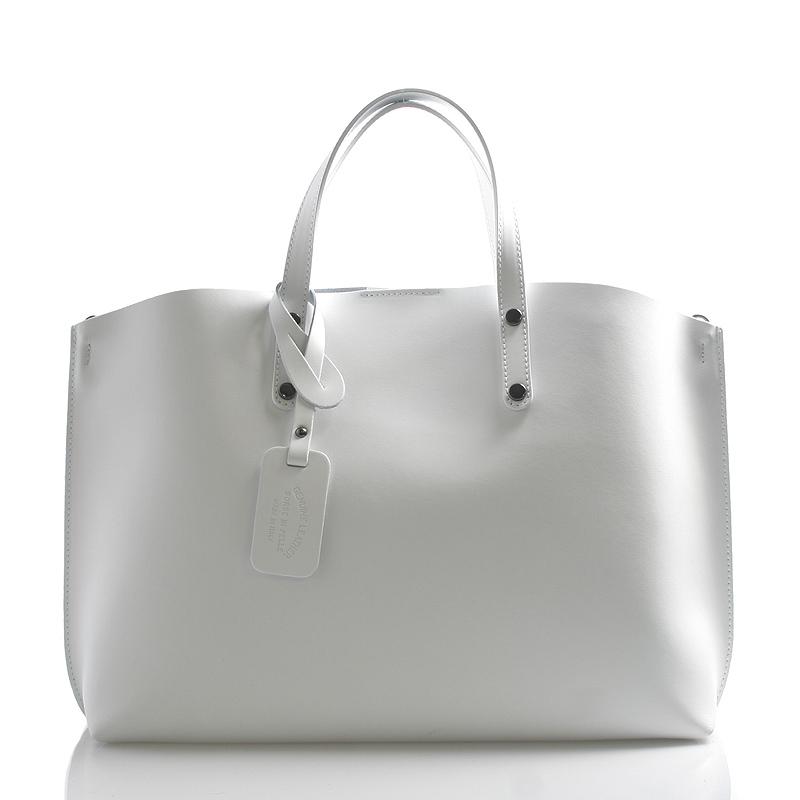 Bílá kožená kabelka do ruky ItalY Jordana
