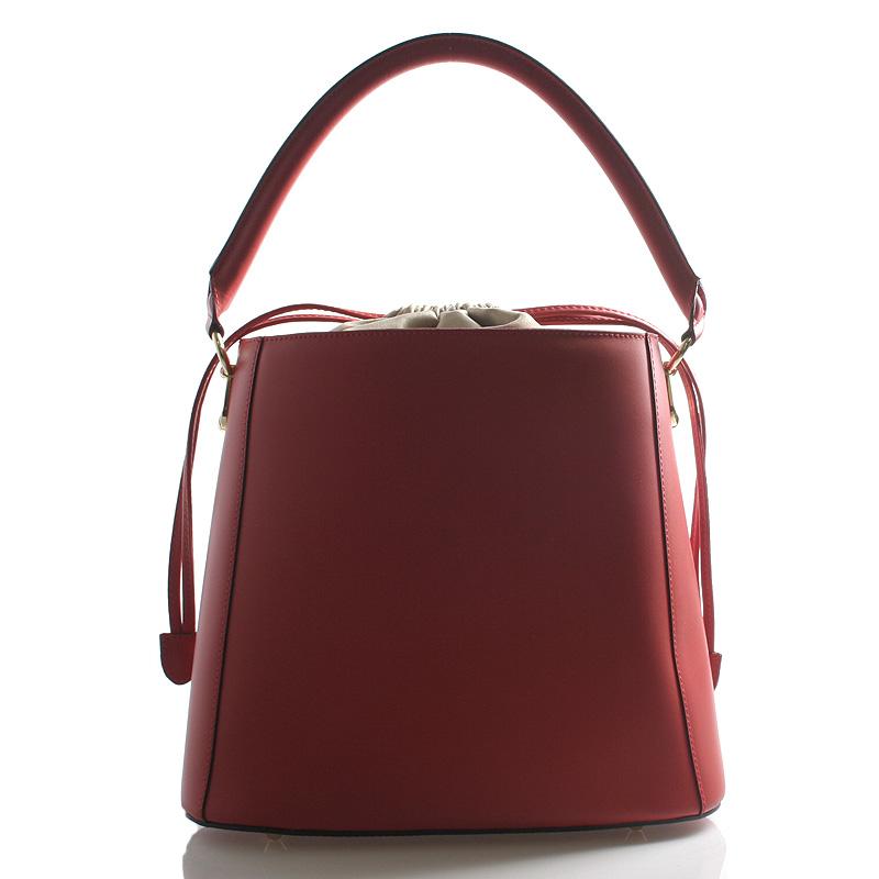 Červená luxusní kožená kabelka ItalY Patricia