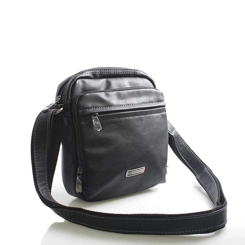 Černá taška přes rameno na doklady Bellugio Apollo