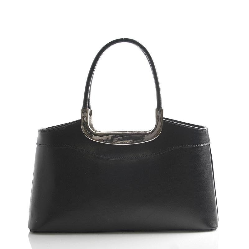 Černá kožená kabelka do ruky ItalY Stefanie