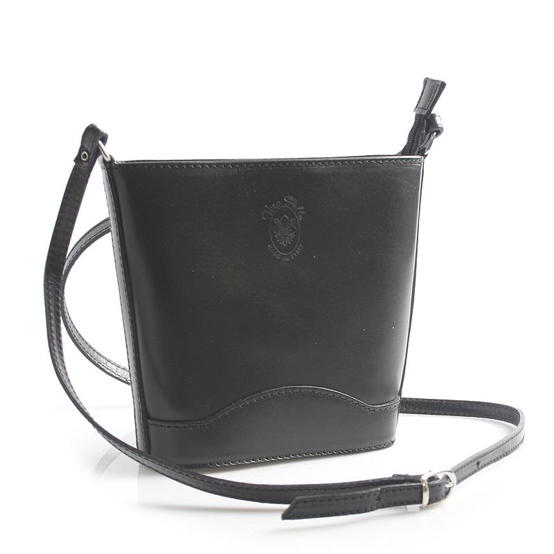 Černá kožená crossbody kabelka ItalY Bryana