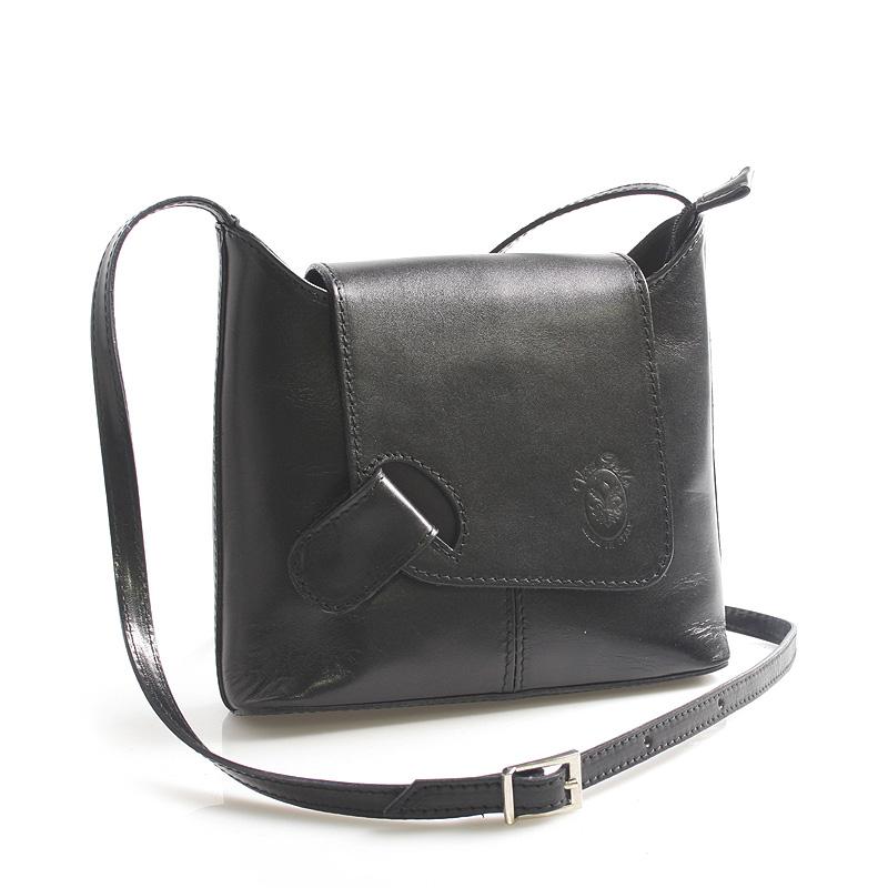 Černá kožená crossbody kabelka ItalY Misty