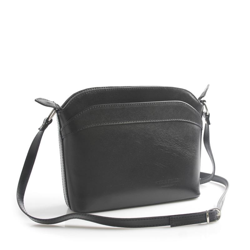 Černá kožená crossbody kabelka ItalY Heidi