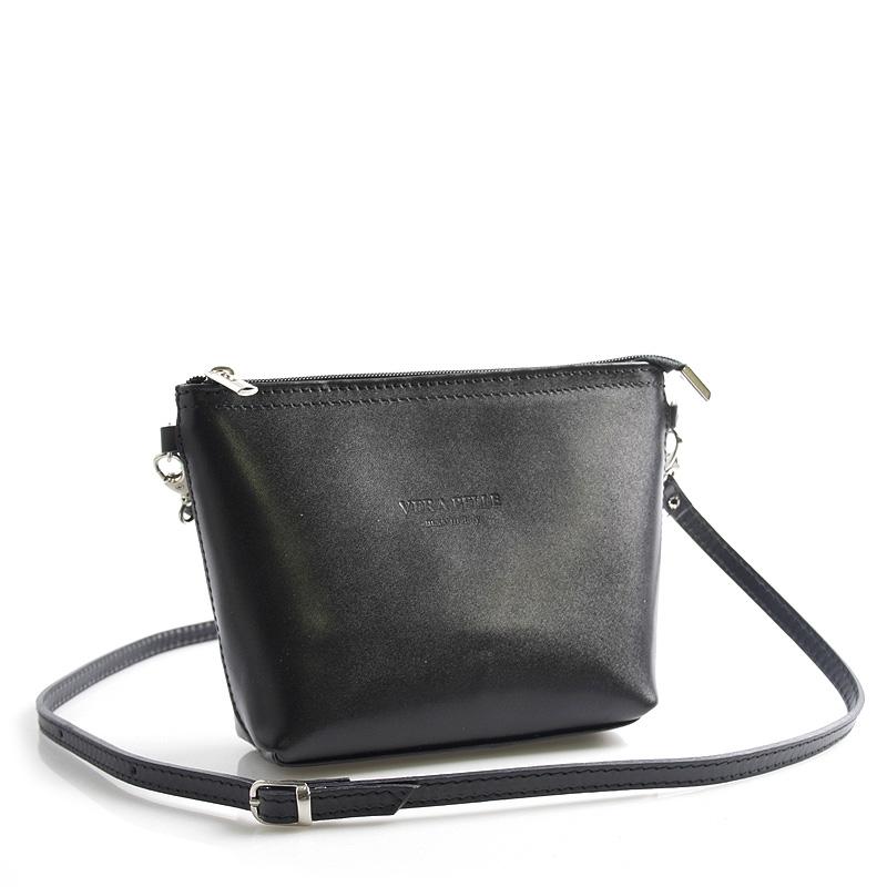 Černá kožená crossbody kabelka ItalY Garnet