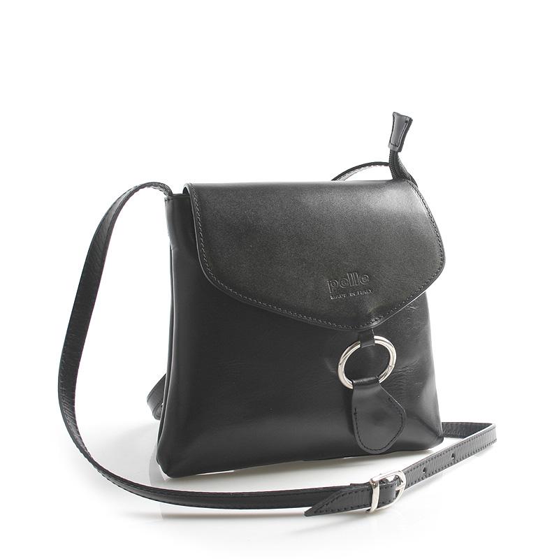 Černá kožená crossbody kabelka ItalY Saffie
