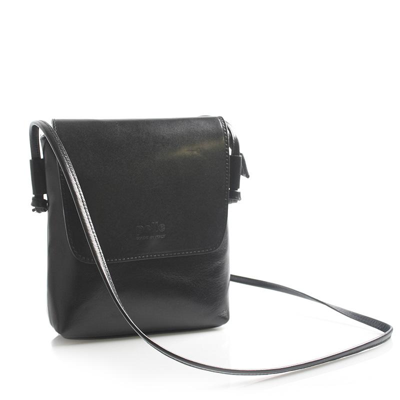 Černá kožená crossbody kabelka ItalY Tamia