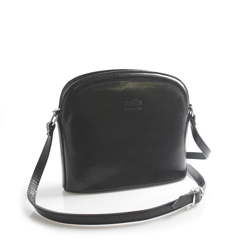 Černá kožená crossbody kabelka ItalY Tracy