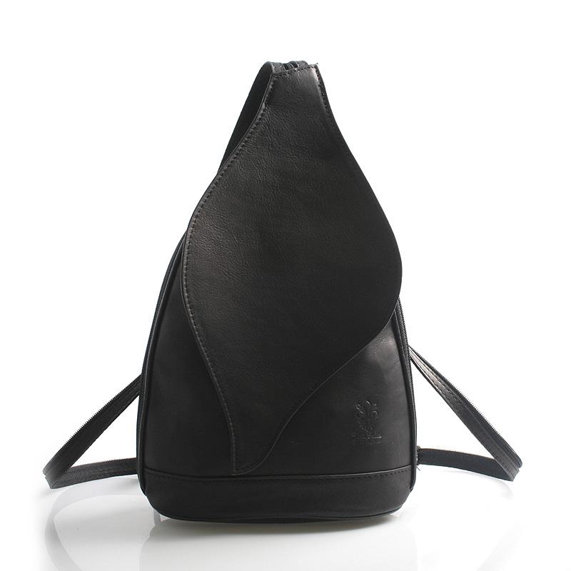 Dámský batoh černý kožený - ItalY Corynn