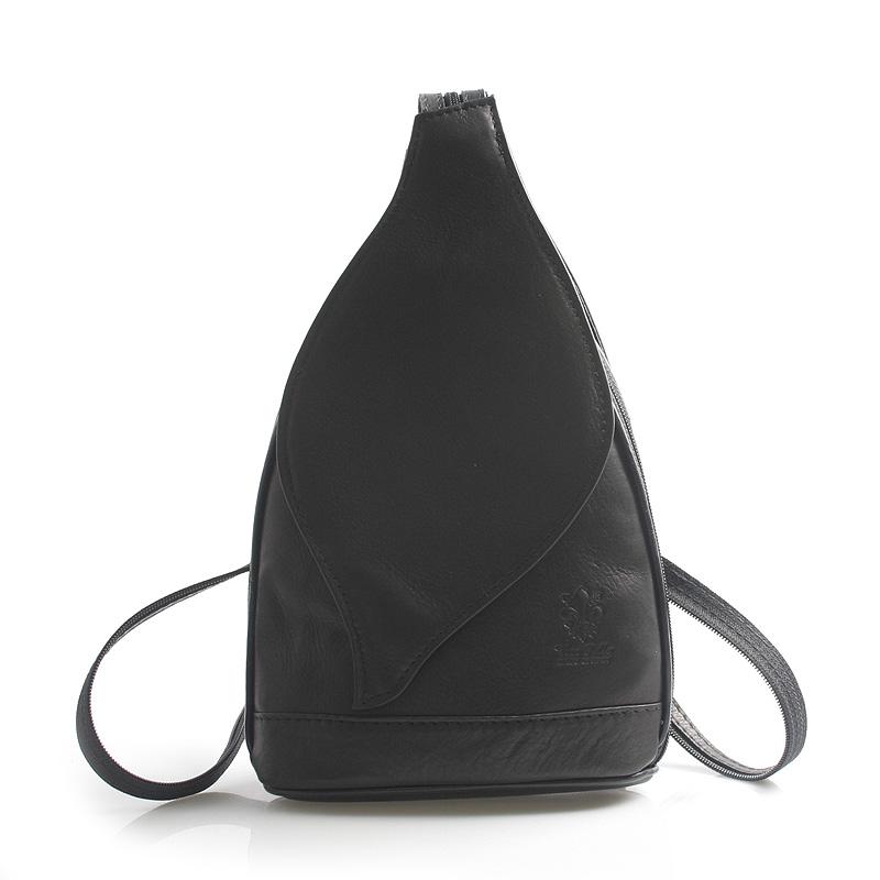 Dámský batoh černý kožený - ItalY Nova