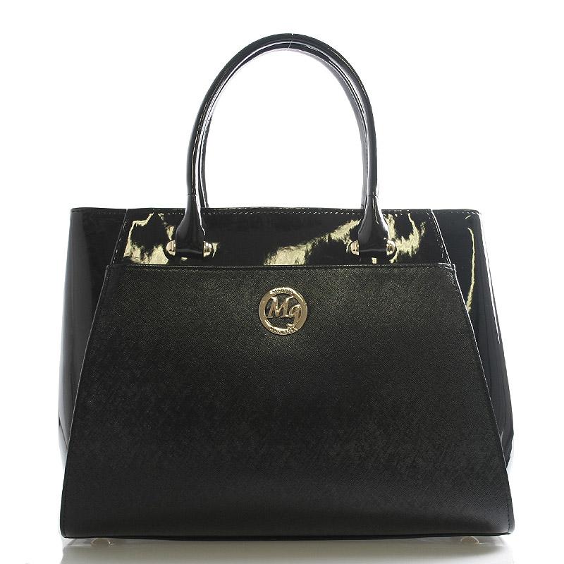 Dámská kabelka černá lakovaná - Maggio Astrid