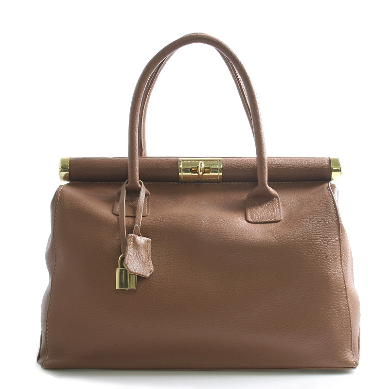 Dámská kabelka hnědá kožená - ItalY Valeria