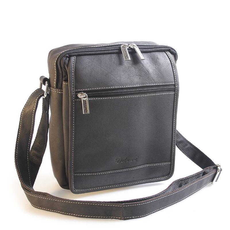 Pánská kožená taška černá - Delami Tobias