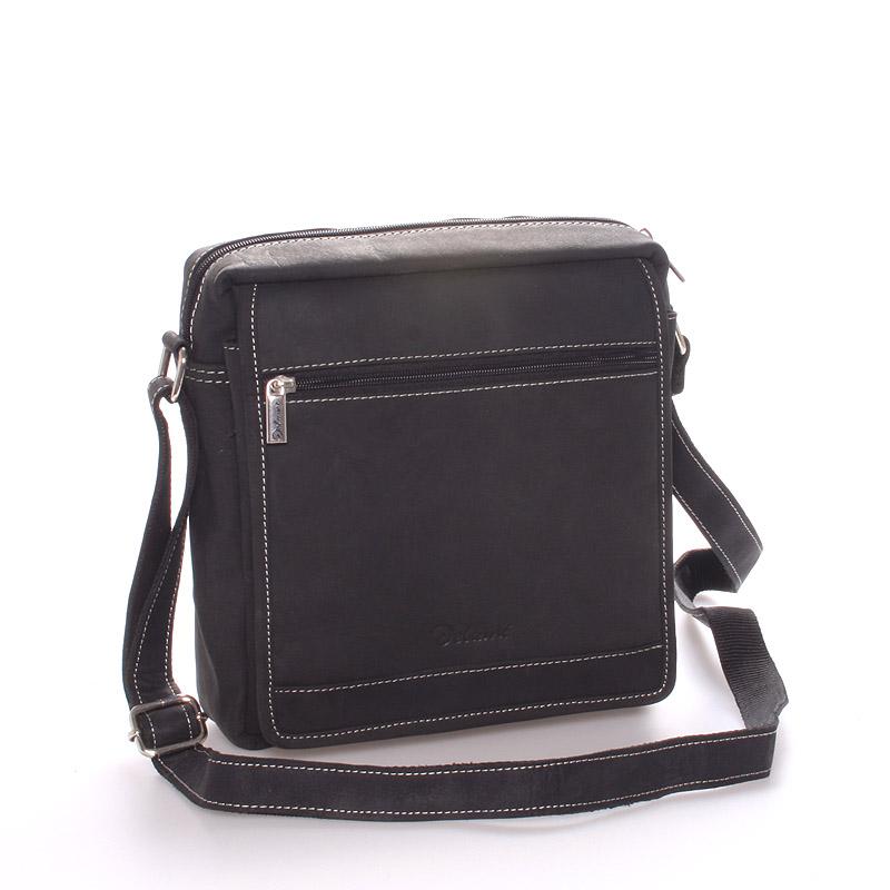 Pánská kožená taška černá - Delami Teodoro
