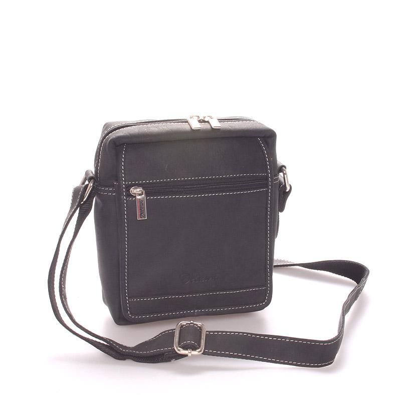 Pánská kožená taška černá - Delami Gilberto