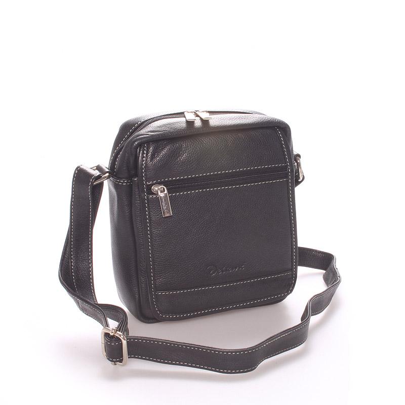 Pánská luxusní kožená taška černá - Delami Giusto