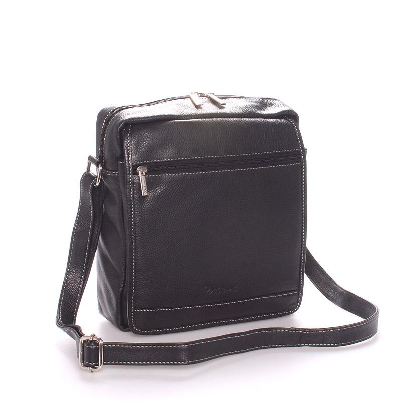 Pánská luxusní kožená taška černá - Delami Leandro