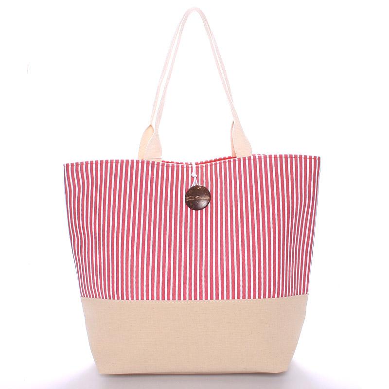 Plážová taška pruhovaná červená - Enrico Benetti Summer