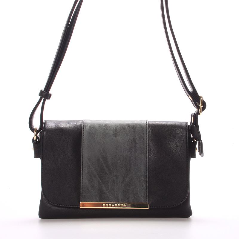 Dámská luxusní crossbody kabelka černá - Hexagona Francesca