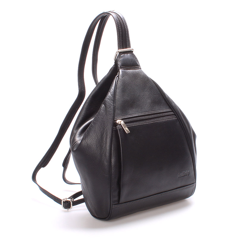 Dámský kožený batůžek černý - SendiDesign Virginia